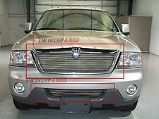 Billet Grille Insert 2005 Lincoln Aviator Front Grill Combo Aluminum 2pc