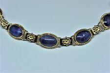 Victorian? 18k Gold Blue Sapphires Bracelet Antique Handmade RARE