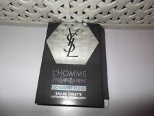 Men's YSL L'Homme Cologne Bleue EDT 1 x 1.2ml  Sample Spray New Release 2018