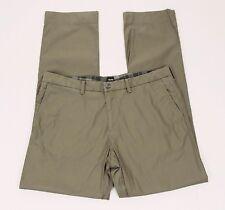Hugo Boss Crigan1 Regular Fit Brown Flat Chino Pants Mens 36 x 33