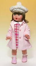 Mariquita Pérez vestido cuadros abrigo rosa. (MP50188)