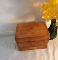 Small Antique 19th Century Apothecary's/Chemist Box-Burr Walnut with Drawer