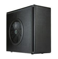 Midi ATX PC Gehäuse Leder, schwarze Lederverkleidung Leergehäuse Design [789383]