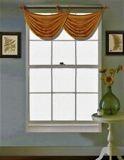 """1 Faux Silk Shiny Waterfall Window Grommet Top Swag Valance 55""""X24"""" V24"""