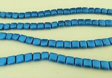 25 6 x 6 x 3 mm CzechMates Two Hole Tile Beads: Saturated Metallic - Galaxy Blue