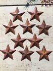 2 25  Primitive Rusty Tin Metal Barn Stars 10 Pack Dimensional 2 1 4  NEW