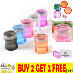 BeautyBigBang Head Stamping + Scraper Clear Jelly Flower Handle Nail Art StampNL