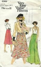 Vogue Sewing Pattern 9369 Very Easy, Shaped Yoke, Wrap Skirts, Size 16 Vintage