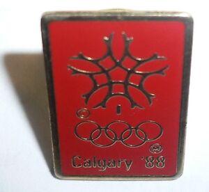 1988 WINTER OLYMPICS CALGARY CANADA Original Pin with Official Logo VERY RARE!!!