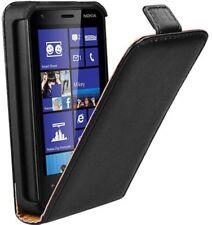 Etui Housse pour Nokia Lumia 620 fine flip vertical case slim cuir noir