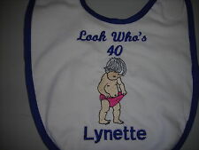 personalized adult sized 30th,40th,50th & 60th or any  birthday date funny bibs