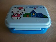 """Sanrio Hello Kitty Plastic Blue Food Container, 5 1/2"""" X 4 1/2"""" X 2"""", BRAND NEW!"""