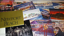 SET 12 BALBOA NEWPORT BEACH POSTCARDS STEVE SIMON ART FERRY PAVILLION FUN ZONE