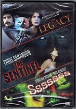 THE LEGACY + THE SENTINEL + SSSSSSS New Sealed DVD Triple Feature