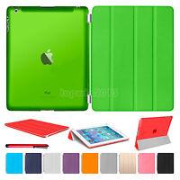 Slim Magnetic Leather Smart Cover Hard Back Case For iPad Air 4 3 2 iPad Mini 4