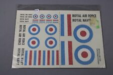 ZF1156  graupner planche decal decalcomanien 220 Royal Air Force Navy 5 cm