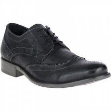 Hush Puppies Men's Zack Leather Oxford Shoe - Black - Size 10
