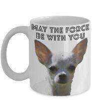 "Funny Chihuahua Coffee Mug ""Yoda Chihuahua May The Force Be With You"""