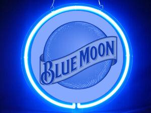Blue Moon Beer ClubsBlue Pub Bar Display Advertising Neon Sign