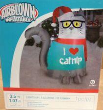 Christmas Santa Cat Catnip Sweater Airblown Inflatable Gemmy Holiday Yard Decor