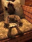 Primitive Carleen Doll with Large Pet Cat Handmade