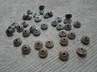 20 x 8mm Tibetan Style Washers - Antique Silver Disc shaped spacers ~ 2mm hole