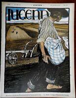 Farmer in Field Jugend Magazine 1899 Issue 13 Jugenstil Art Nouveau graphics