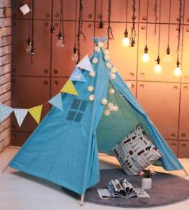 1.35m Children's Tent Wigwam Portable Indian Kid Tent Tipi Indoor Baby Playhouse