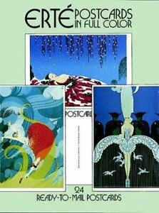 Erte Postcards in Full Color: 24 Ready-to-Mail ... by Erte Postcard book or pack