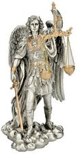 Saint Michael Justice Statue with Scales  Legal Law Justica Archangel