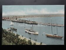Dorset WEYMOUTH HARBOUR showing Steam Ferries & Boat c1903 by Valentine