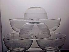 Vintage Crystal Finger Bowls Set Of 6