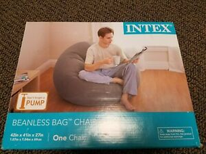 Brand New Intex Inflatable Beanless Bag Chair 68579EP - Gray
