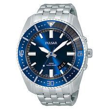 Pulsar Men's PS9319 Quartz Stainless Steel Blue Dial Dress Watch