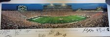 RARE Michigan State Spartans Panoramic football poster AUTOGRAPHED LEGENDS MSU