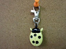 New Yellow & Black Ladybug Clip Quartz Watch White Dial Ladybugs
