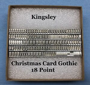 Kingsley Machine Type - 18pt. Christmas Card Gothic  - Hot Foil Stamping Machine