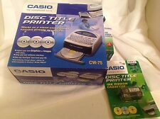 CASIO CW-75 Disc CD DVD Title Printer Install Disk + 4 Xtra Ink Ribbon - NEW