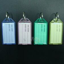 40pcs Colorful Transparent Luggage ID Label Key Tags Keychains Memory Sticks