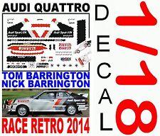 DECAL 1/18 AUDI QUATTRO TOM BARRINGTON RACE RETRO 2014 (01)