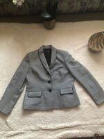 Le Suit size 12 Grey Black Women's  blazer