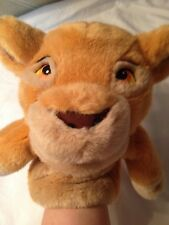 Young Simba Lion King Hand Puppet Excellent Condition Plush Animal