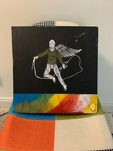 "MICHAEL BANKS Outsider FOLK ART PAINTING ABSTRACT OUTSIDER ALABAMA 16 x 16"""