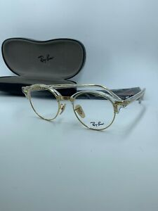 NEW RAY-BAN RB 4246-V 5762 CLEAR GOLD AUTHENTIC FRAME RX RB4246 47-19 FAST SHIP
