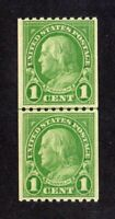 United States stamp #604, MNHOG, XF Coil Line Pair, SCV $25.00