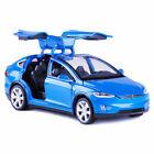1:32 Tesla Model X 90D SUV Model Car Alloy Diecast Toy Vehicle Kids Gift Blue