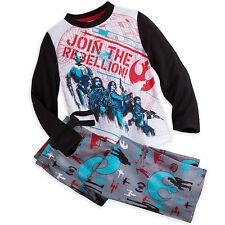 Disney Store Rouge One Star Wars Story Kids Sleep Set Pajamas sz 4 5/6 7/8 9/10