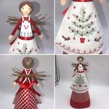🌈Gisela Graham Fairy Angel Scandi Nordic Christmas Tree Topper Decoration 29cm