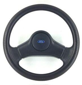 Genuine OEM Ford Fiesta MK3 XR2i black polyurethane steering Wheel. 17B