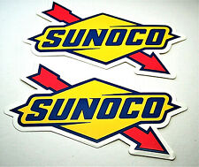 """2 Sunoco Oil & Gas Official Logo Promo Sticker New NOS 2010 5 x 2.1`"""""""
